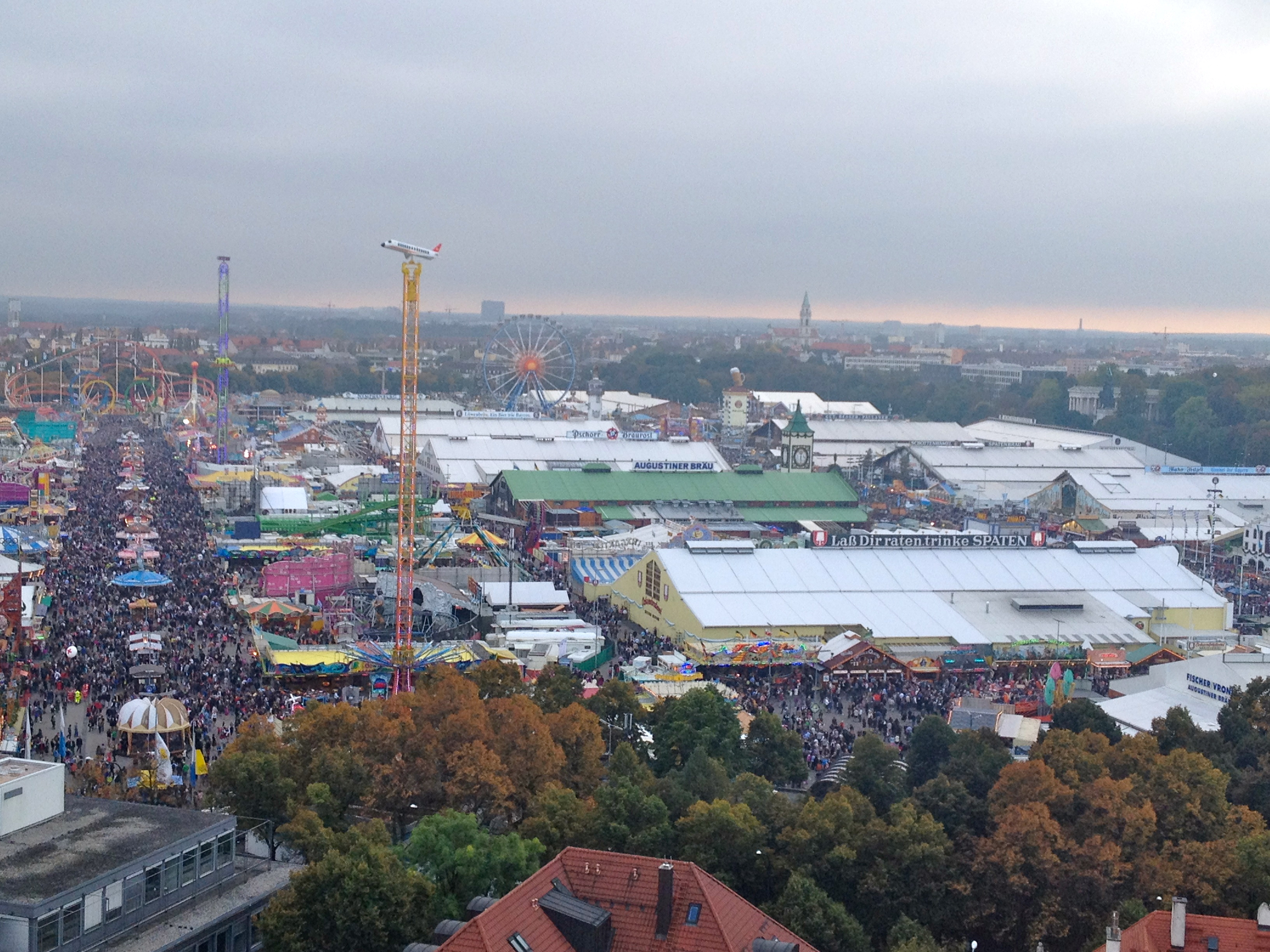 bird's eye view of Oktoberfest