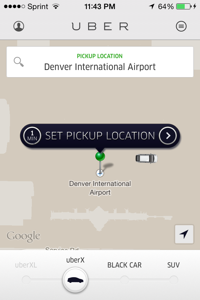 plenty of cars available at all hours at DIA!
