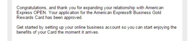 amex approval